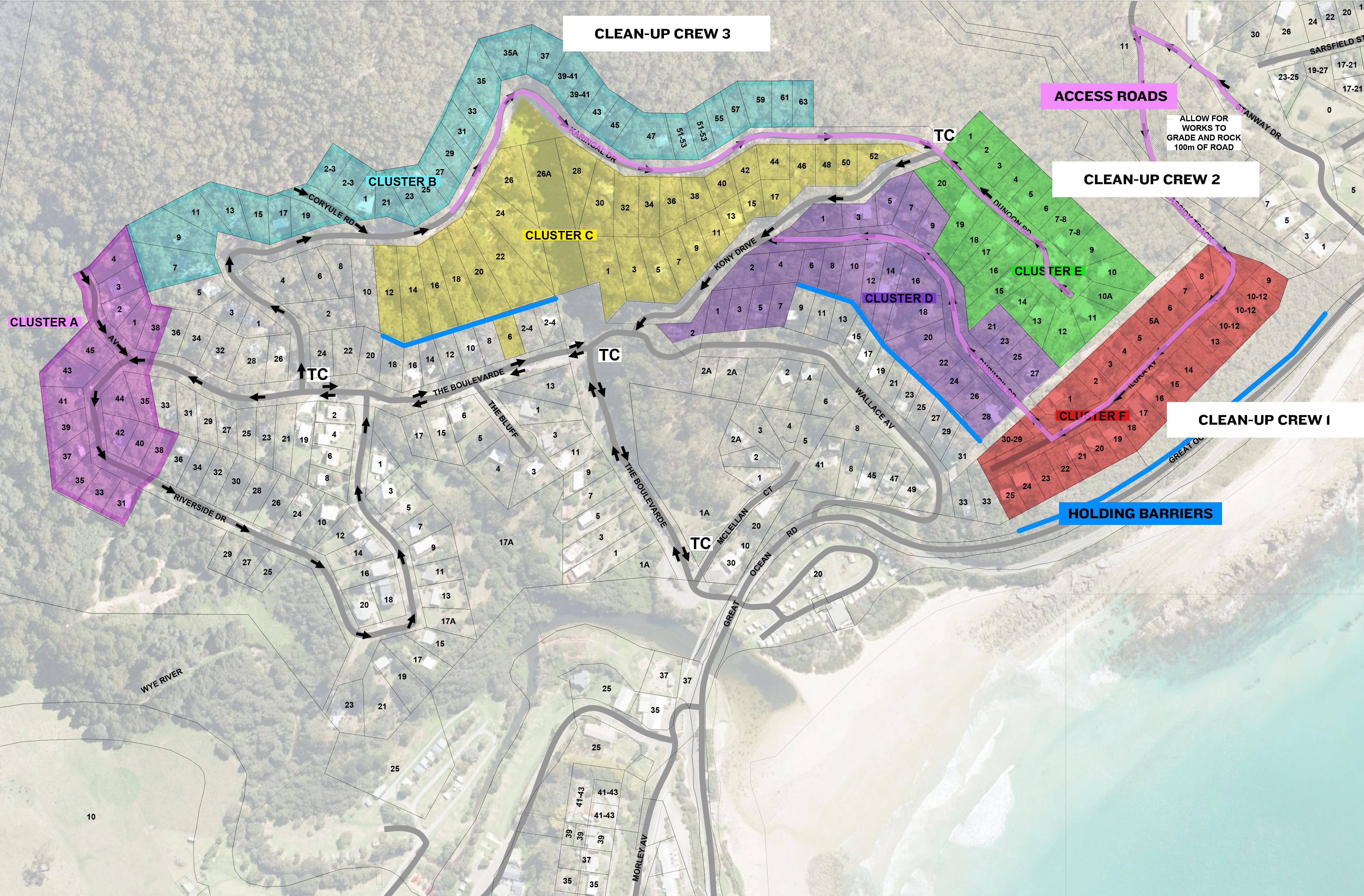 Cluster Plan Wye River V2 - Roads,Fences